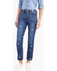 J.Crew - Vintage Straight Jean With Star Print - Lyst