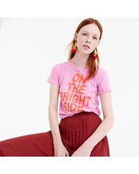 "J.Crew - ""on The Bright Side"" T-shirt - Lyst"
