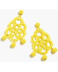J.Crew - Bead-and-embroidery Earrings - Lyst