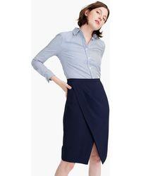 48d8dfd425 J.Crew - Asymmetrical Pencil Skirt In Japanese Weave - Lyst