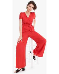 ae9d3712ec6 Lyst - J.Crew Collection Tropical Wool Jumpsuit in Gray