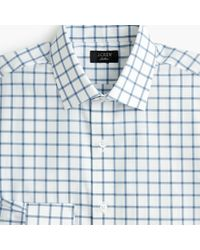 J.Crew - Ludlow Stretch Two-ply Easy-care Cotton Dress Shirt In Mini Windowpane - Lyst