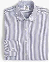 Thomas Mason - Ludlow Slim-fit Shirt In Royal Stripe - Lyst