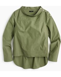 J.Crew - Petite Funnelneck Shirt - Lyst