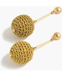 J.Crew - Crochet Bead Drop Earrings - Lyst