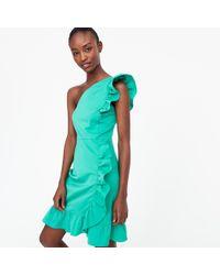 J.Crew - Petiteone-shoulder Ruffle Dress - Lyst