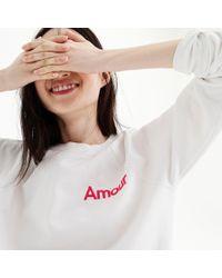 "J.Crew - ""amour"" Sweatshirt - Lyst"