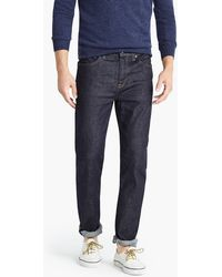 J.Crew - 770 Straight-fit Jean In Stretch Resin Rinse Japanese Denim - Lyst