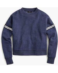 J.Crew - Racing Stripes Crop Crewneck Sweatshirt - Lyst