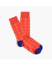 J.Crew - Dotted Socks - Lyst