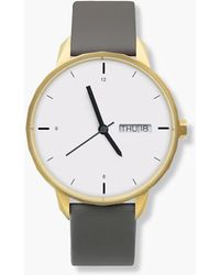 J.Crew - Tinker 42mm Gold-toned Watch With Grey Strap - Lyst