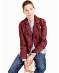 J.Crew - Collection Washed Leather Motorcycle Jacket - Lyst