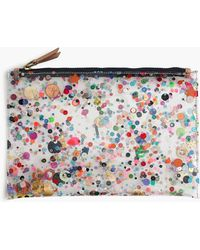 J.Crew - Large Vinyl Pouch With Glitter - Lyst