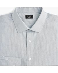 J.Crew - Ludlow Slim-fit Stretch Two-ply Easy-care Cotton Dress Shirt In Stripe - Lyst