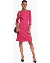 J.Crew - Boatneck Sheath Dress In Matelassé - Lyst