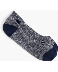 J.Crew - Marled No-show Socks - Lyst