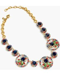 J.Crew - Crystal And Acetate Statement Necklace - Lyst