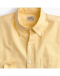 e83ad0f6539ba J.Crew - Untucked American Pima Cotton Oxford Shirt With Mechanical Stretch  - Lyst