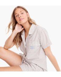 "J.Crew - Pyjama Set In ""night Night"" Stripes - Lyst"