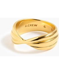 J.Crew - Demi-fine 14k Gold-plated Twisted Ring - Lyst