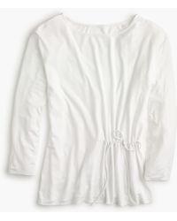J.Crew - Tie-waist T-shirt - Lyst