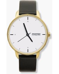 J.Crew - Tinker 42mm Gold-toned Watch With Black Strap - Lyst
