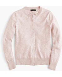 J.Crew - Cotton Jackie Cardigan Sweater - Lyst