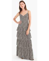 J.Crew - Spaghetti-strap Cha-cha Maxi Dress In Leopard Print - Lyst