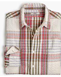 J.Crew - Wallace & Barnes Seersucker Shirt In Plaid - Lyst