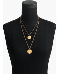 J.Crew - Layered Coin Necklace - Lyst