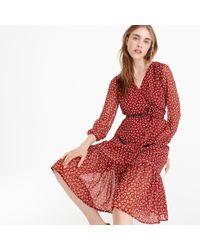 J.Crew - Point Sur Faux-wrap Dress In Sparkle Floral - Lyst