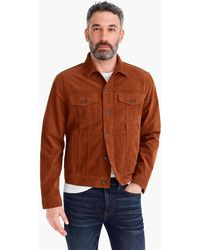 J.Crew - Trucker Jacket In Stretch Corduroy - Lyst