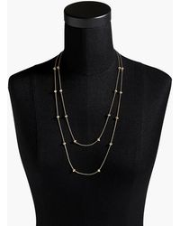 J.Crew - Double-strand Crystal Necklace - Lyst