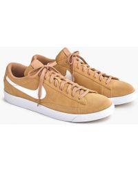 J.Crew - Nike Blazer Low-top Trainers - Lyst
