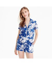 J.Crew - Pajama Short In Blue Floral - Lyst