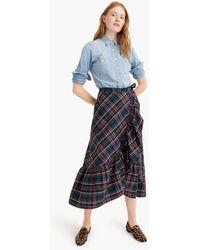 J.Crew - Ruffle Wrap Skirt In Signature Tartan - Lyst