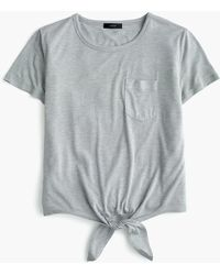 J.Crew - Knotted Pocket T-shirt - Lyst