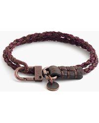 J.Crew - Caputo & Co. Hand-braided Double-wrap Bracelet - Lyst