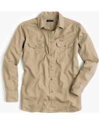 J.Crew - Boyfriend Utility Shirt - Lyst
