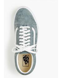 6a39c65f76 Lyst - Vans Old Skool Sneakers In Green Suede in Green for Men