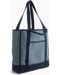 J.Crew - Stonewashed Canvas Tote - Lyst
