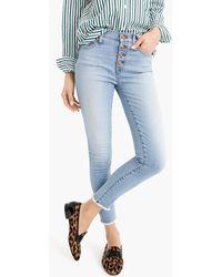 """J.Crew Tall Eco 9"""" High-rise Toothpick Jean In Light Worn Wash"""