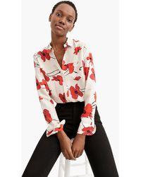 J.Crew - Classic-fit Boy Shirt In Silk Poppy Print - Lyst