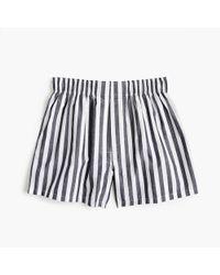 J.Crew - Indigo Striped Boxers - Lyst