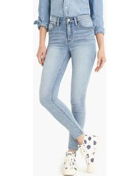 "J.Crew - 9"" High-rise Knit Toothpick Jean In Azure Wash - Lyst"