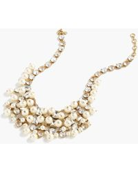 J.Crew - Crystal And Pearl Statement Necklace - Lyst