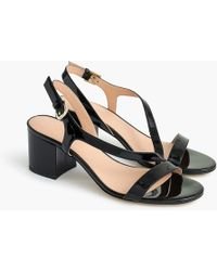 J.Crew - Asymmetrical Strappy Sandals (60mm) In Patent Leather - Lyst