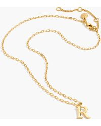J.Crew - Gold Letter Necklace - Lyst