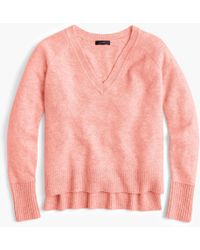J.Crew - V-neck Jumper In Supersoft Yarn - Lyst
