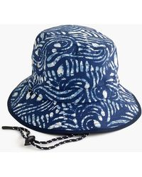 053def12b2f6b J.Crew Bucket Hat In Patchwork Madras in Blue for Men - Lyst